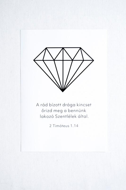 Bibliai Idézetes Falikép - Kincs