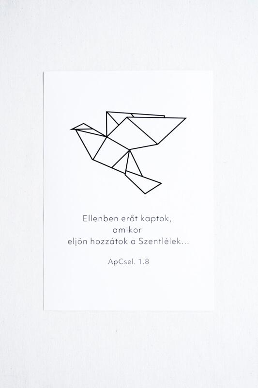 Idézetes Falikép - Madár