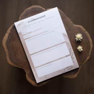Jegyzettömb, jegyzetelés, lista, Bibliai igék - Elcsendesedő