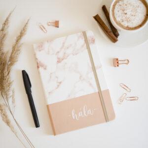Jegyzetfüzet, füzet, a4, vonalas füzet, Istentisztelet jegyzet, napló - Hála