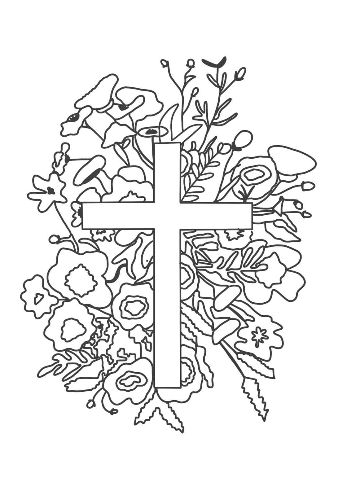 Húsvéti kifestő kiszínező gyerekeknek Jézus feltámadása, nagyhéti gyerek foglalkozás, húsvét magyarázata, ajándékba, felírttal, Bibliai ige