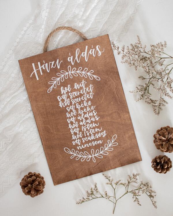 Házi áldás Fatábla, ajtódísz Csendesedő keresztény boltból