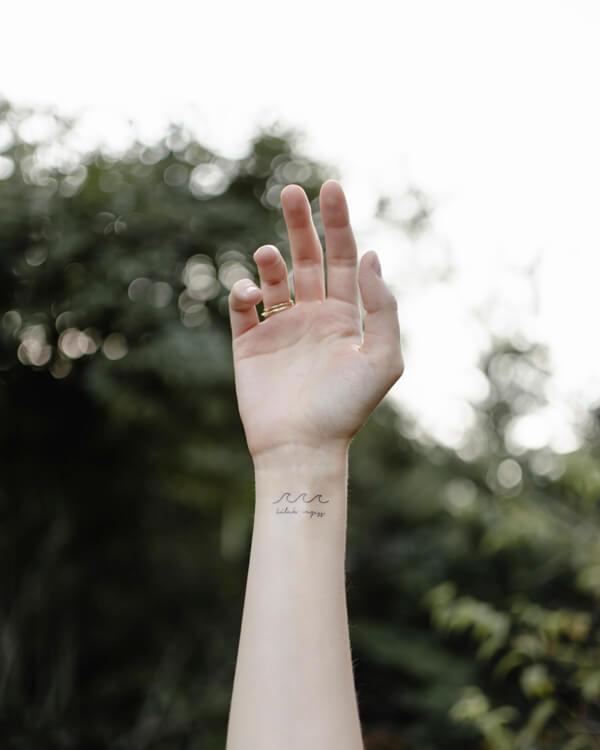 lemosható tattoo tetkó keresztény, hullám, lélek vezess, szentlélek