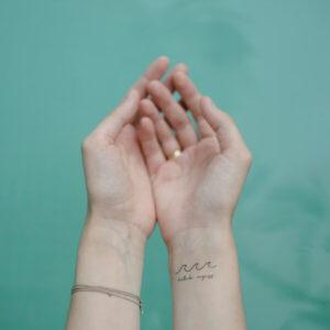 lemosható tattoo tetkó keresztény, vezet Isten, ige, Biblia