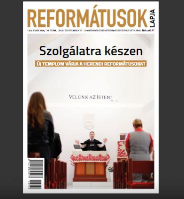 Reformatusok Lapja borító, cikk, interjú, Reflap, Csendesedő, kisvállalkozás, hit, református